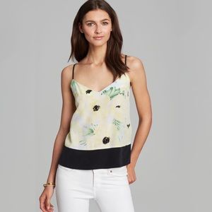 FRENCH CONNECTION Yellow Floral Tank